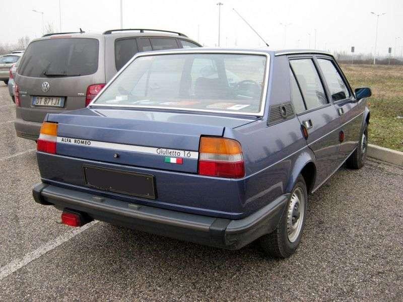Alfa Romeo Giulietta 116 sedan 2.0 MT (1980 1981)