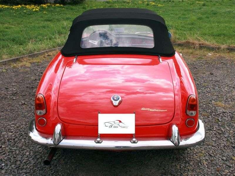 Alfa Romeo Giulietta 750/101 [restyling] Spider 1.3 MT convertible (1960–1962)