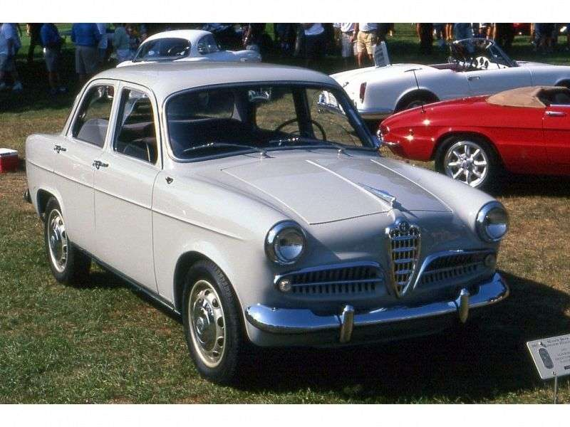 Alfa Romeo Giulietta 750/101 Berlina sedan 1.3 MT (1955 1958)