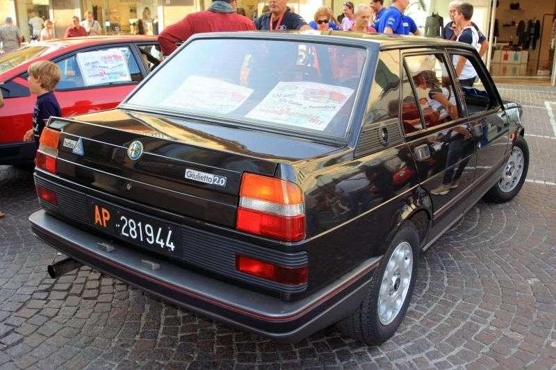Alfa Romeo Giulietta 116 [druga zmiana stylizacji] Turbodelta sedan 2.0 T MT (1984 1985)