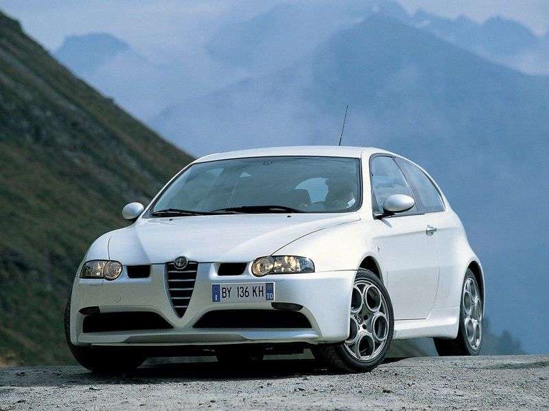 Alfa Romeo 147 1st generation GTA hatchback 3 bit. 3.2 MT (2003–2004)