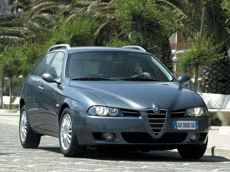 Alfa Romeo 156 932 [restyling] Sport Wagon 5 speed wagon. 1.6 MT (2002–2004)