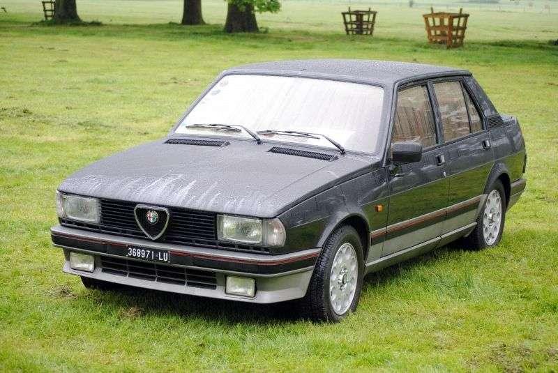 Alfa Romeo Giulietta 116 [druga zmiana stylizacji] sedan 1.6 MT (1983 1985)