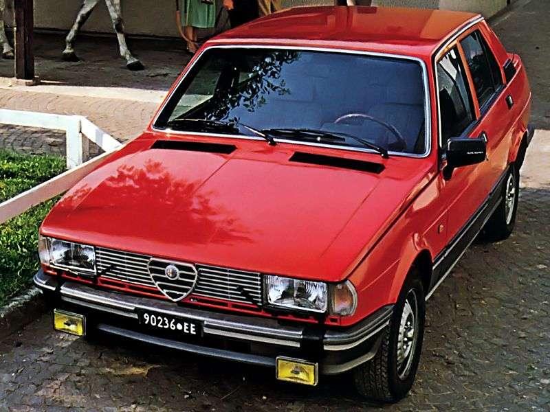 Alfa Romeo Giulietta 116 [restyling] 2.0 TD MT sedan (1982–1983)