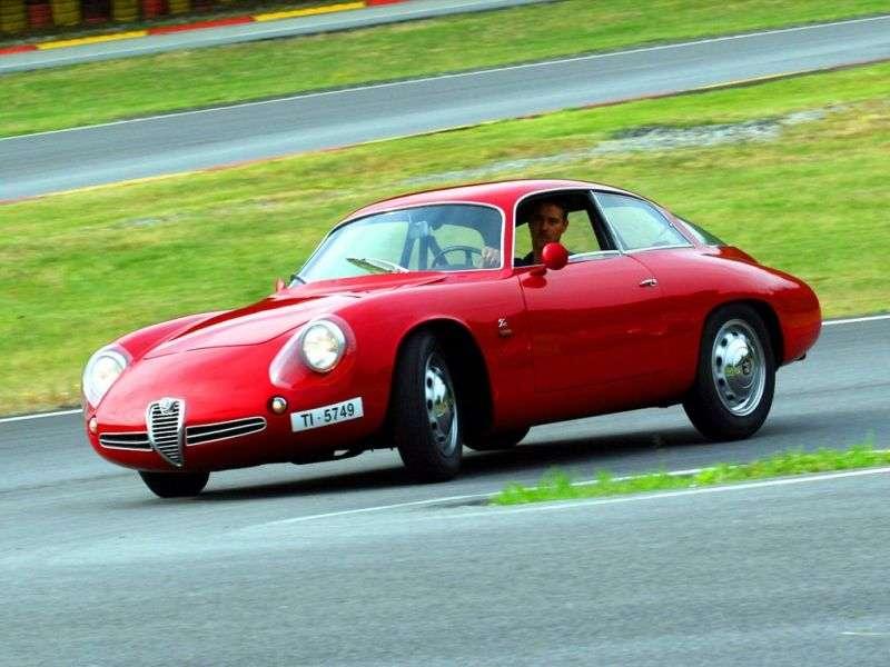Alfa Romeo Giulietta 750/101 [2nd restyling] SZ Coda Tronca coupe 2 bit. 1.3 MT (1961–1962)