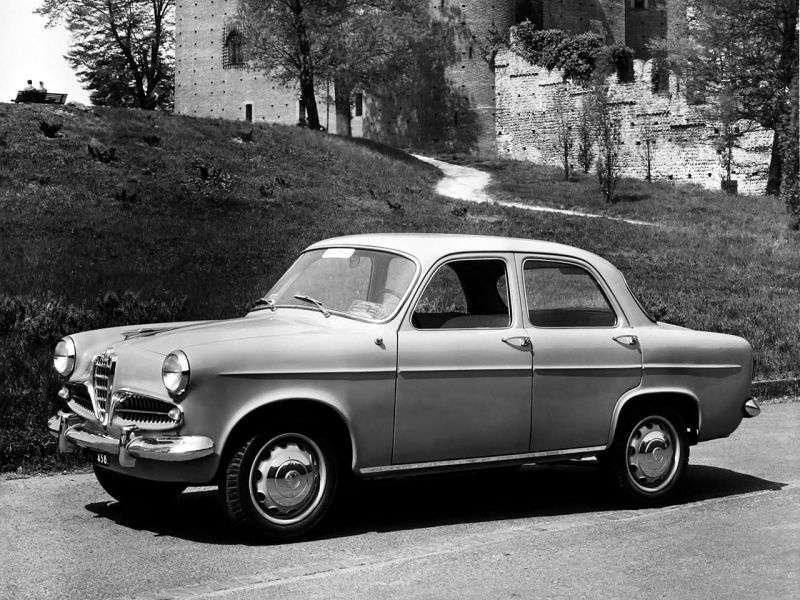 Alfa Romeo Giulietta 750 / 101Berlina Sedan 1.3 MT (1957–1958)
