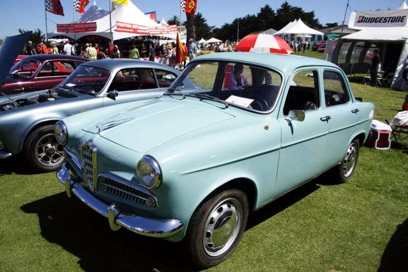 Alfa Romeo Giulietta 750 / 101Berlina Sedan 1.3 MT (1957–1958)