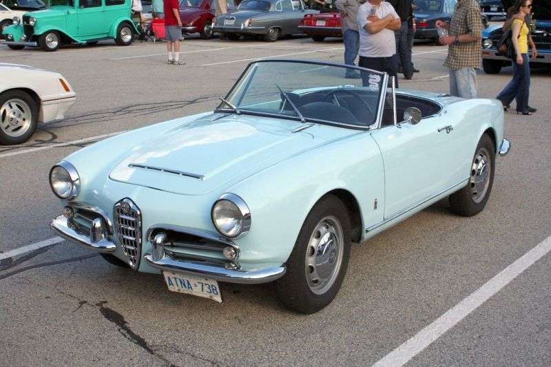 Alfa Romeo Giulietta 750/101 [zmiana stylizacji] Spider Cabrio 1.3 MT (1960 1962)