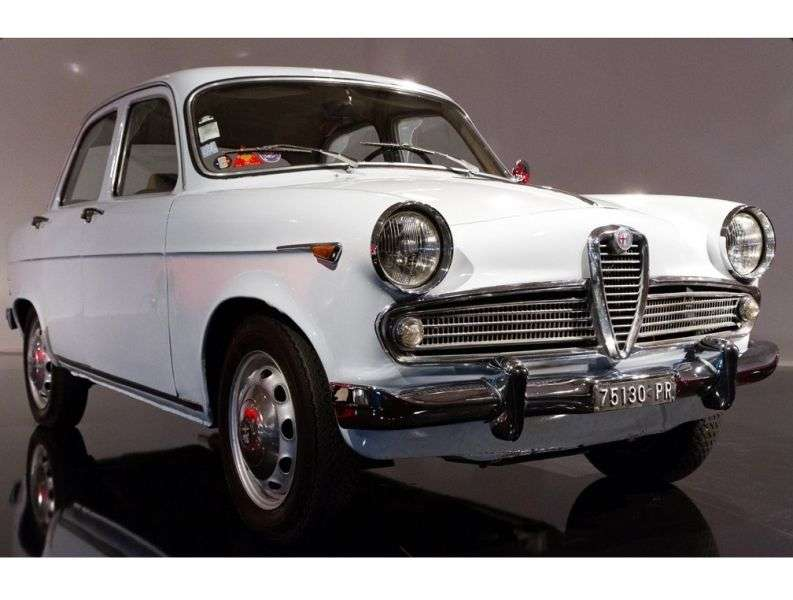 Alfa Romeo Giulietta 750/101 [zmiana stylizacji] Berlina sedan 1.3 MT (1959 1961)