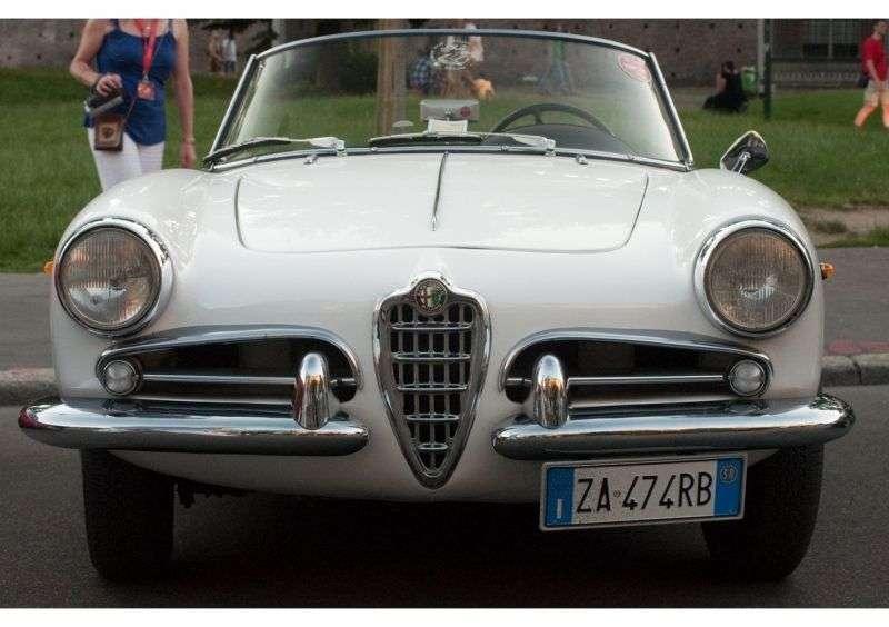 Alfa Romeo Giulietta 750 / 101Spider 1.3 MT Convertible (1957–1959)