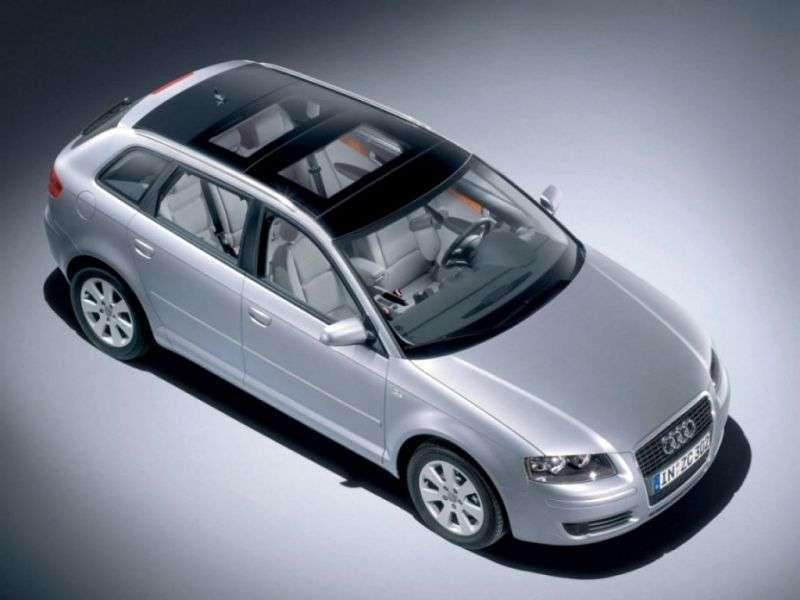 Audi A3 8P / 8PA [restyling] Sportback hatchback 5 dv. 2.0 TFSI S tronic (2005–2006)