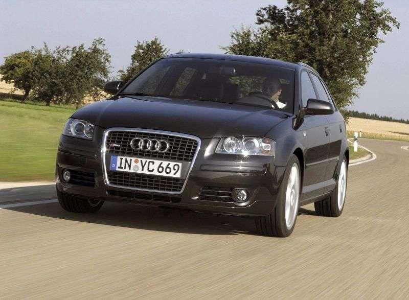 Audi A3 8P / 8PA [restyling] Sportback hatchback 5 dv. 1.8 TFSI MT (2006–2008)