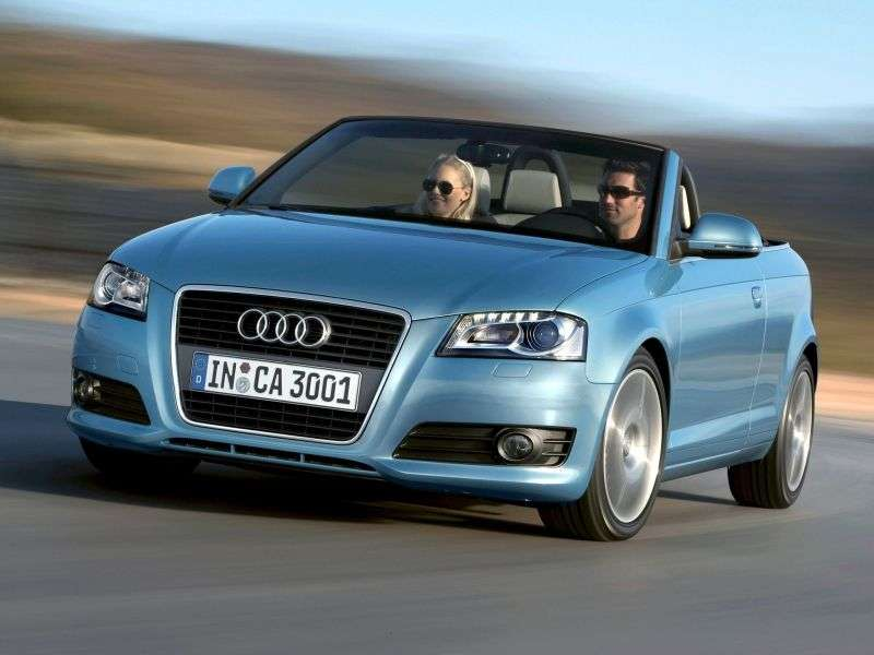 Audi A3 8P / 8PA [2nd restyling] 2.0 TDI MT Convertible (2008–2013)