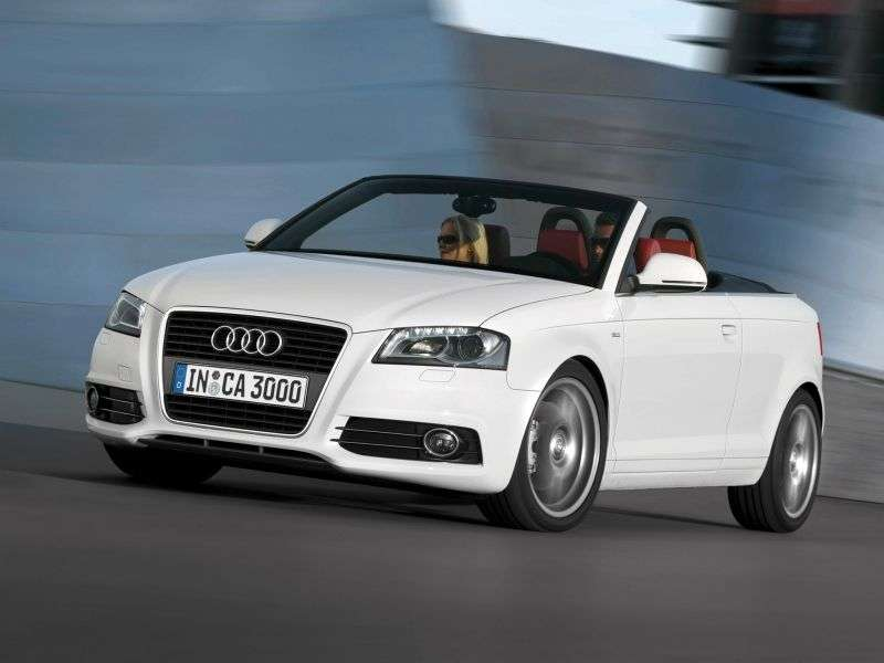Audi A3 8P / 8PA [2nd restyling] 2.0 TFSI MT Attraction Cabriolet (2008–2013)