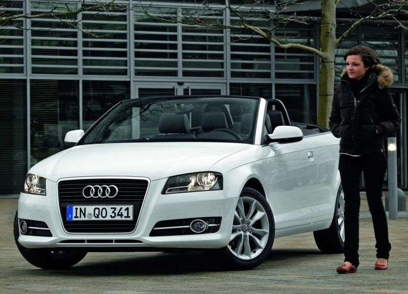 Audi A3 8P / 8PA [2nd restyling] 1.8 TFSI MT Attraction Cabriolet (2008–2013)