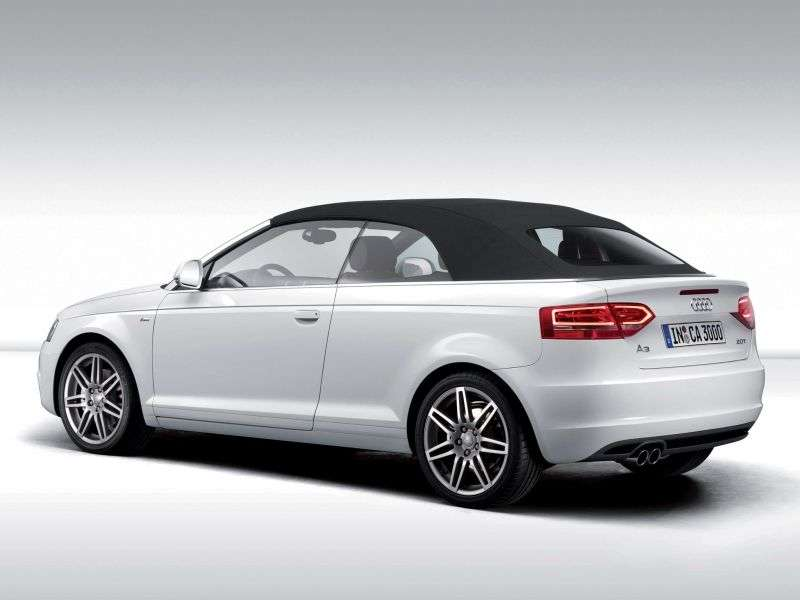 Audi A3 8P / 8PA [2nd restyling] 1.2 TFSI MT Convertible (2008–2013)