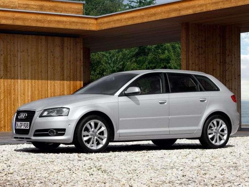 Audi A3 8P / 8PA [2nd restyling] Sportback hatchback 5 bit. 1.2 TFSI S tronic Ambiente (2008–2013)