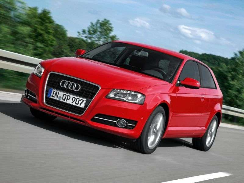 Audi A3 8P / 8PA [2nd restyling] 3 bit hatchback 1.4 TFSI MT Ambition (2008–2012)