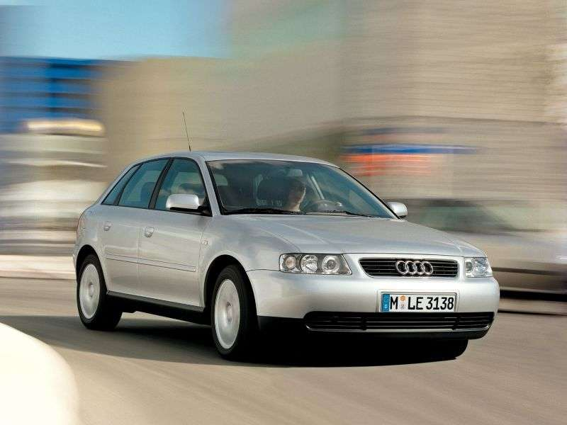Audi A3 8L [restyling] 5 dv hatchback 1.6 AT (2001–2002)