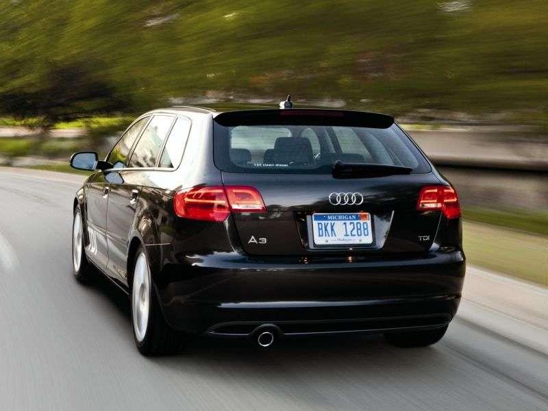 Audi A3 8P / 8PA [druga zmiana stylizacji] Sportback hatchback 5 drzwiowy. 1.2 TFSI MT Ambition (2008 2013)