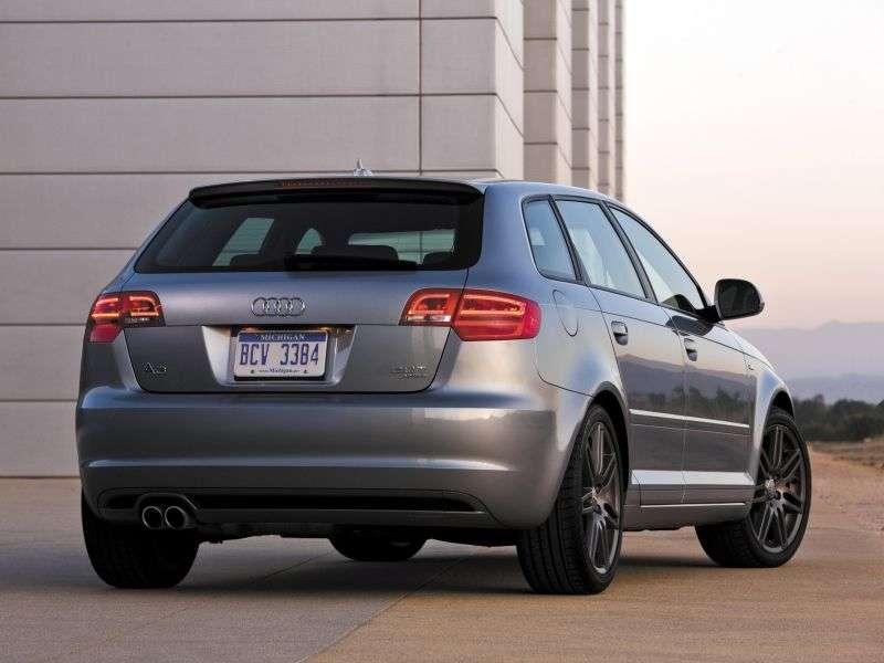 Audi A3 8P / 8PA [2nd restyling] Sportback hatchback 5 bit. 2.0 TFSI MT Ambition (2008–2013)
