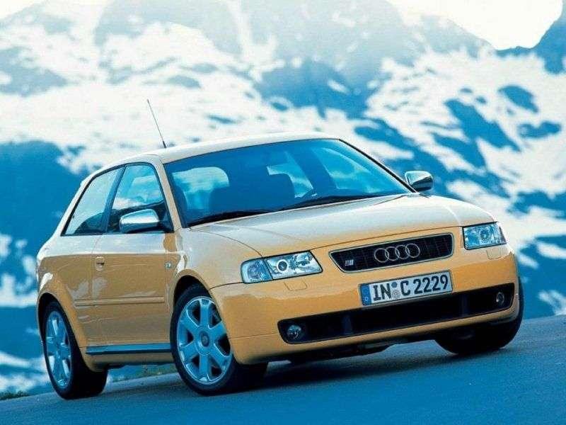 Audi S3 8L [restyling] hatchback 1.8 T quattro MT (2001–2003)