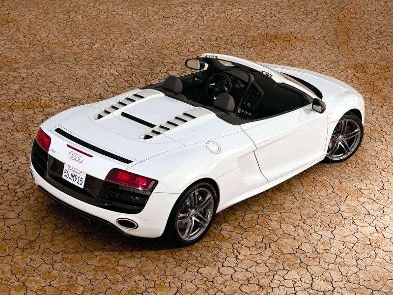 Audi R8 2 drzwiowy kabriolet GT Spyder pierwszej generacji 5.2 FSI quattro R tronic Podstawa (2012 2012)