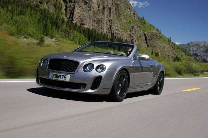 Bentley Continental Supersports 1st generation Convertible 6.0 AT convertible (2010 – n.)