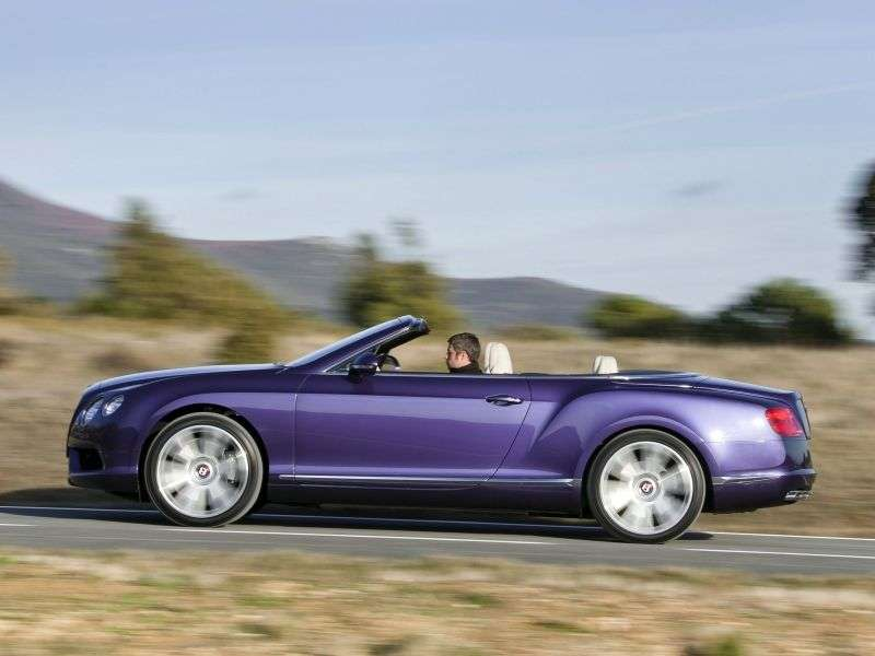 Bentley Continental GTC 2nd generation V8 convertible 2 dv. S 4.0 AT Basic (2013 – present)
