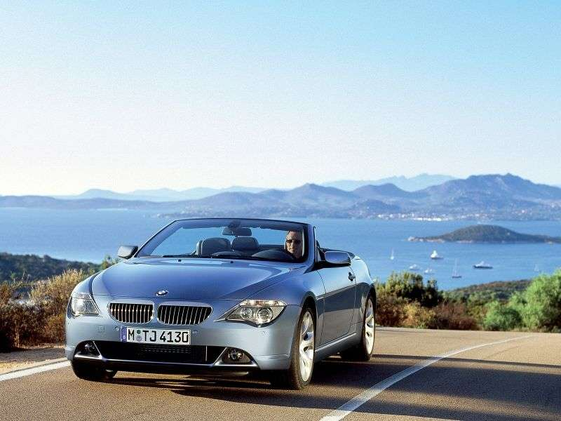 BMW 6 Series E63 / E64 Cabrio 645Ci AT (2004–2005)