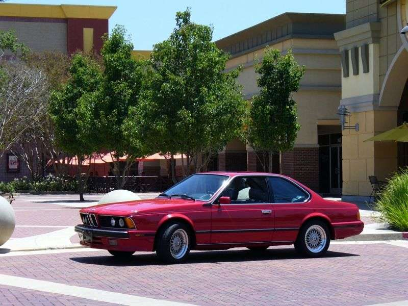 BMW 6 Series E24 [2nd restyling] coupe 635CSi MT (1988–1989)