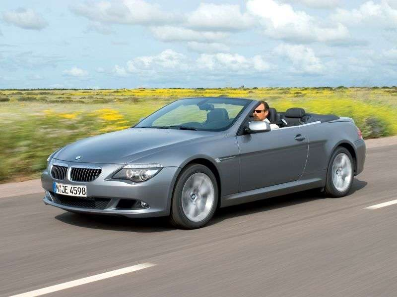 BMW 6 Series E63 / E64 [Restyling] 630i MT Convertible (2007–2010)