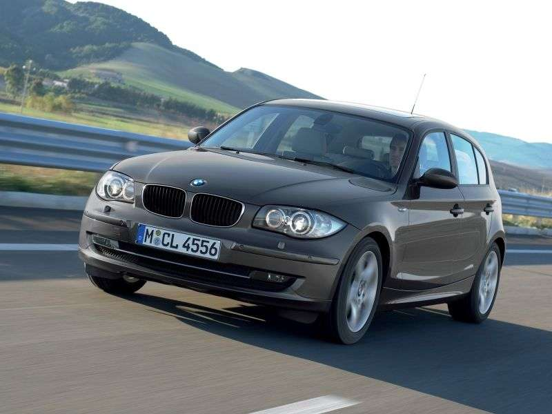 BMW 1 Series E81 / E82 / E87 / E88 [restyling] 5 door hatchback 116i MT (2007–2009)
