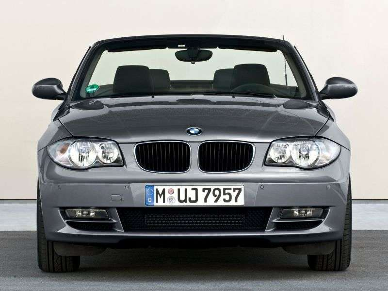 BMW 1 Series E81 / E82 / E87 / E88 [Restyling] 123d AT Convertible (2008–2009)