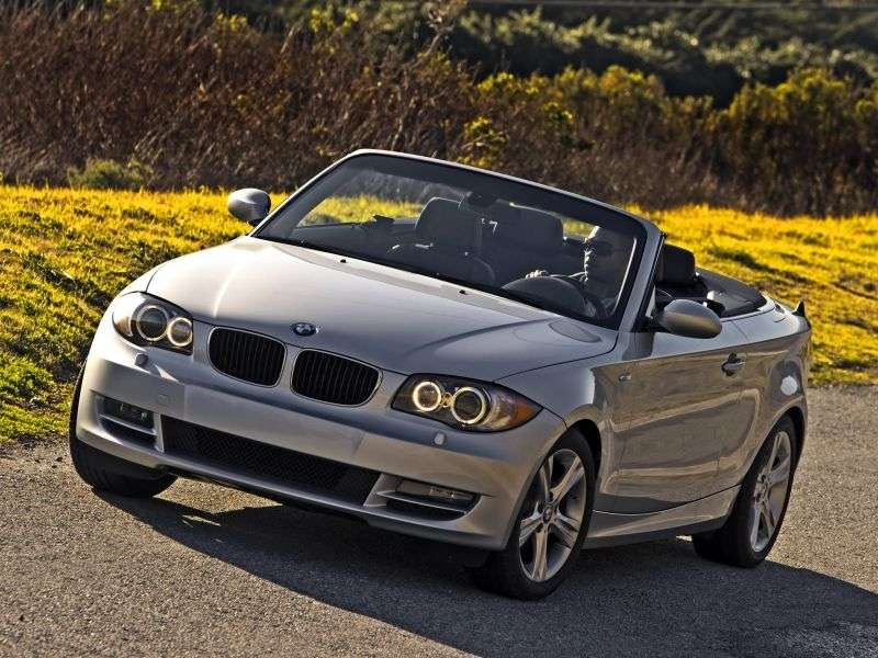 BMW 1 Series E81 / E82 / E87 / E88 [Restyling] 128i MT Convertible (2008–2010)