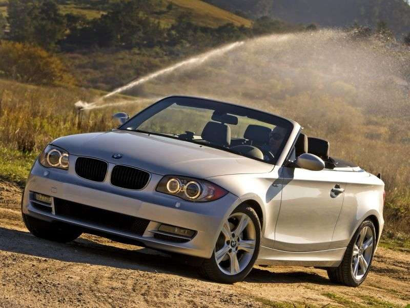 BMW 1 Series E81 / E82 / E87 / E88 [Restyling] 120i MT Convertible (2009–2010)
