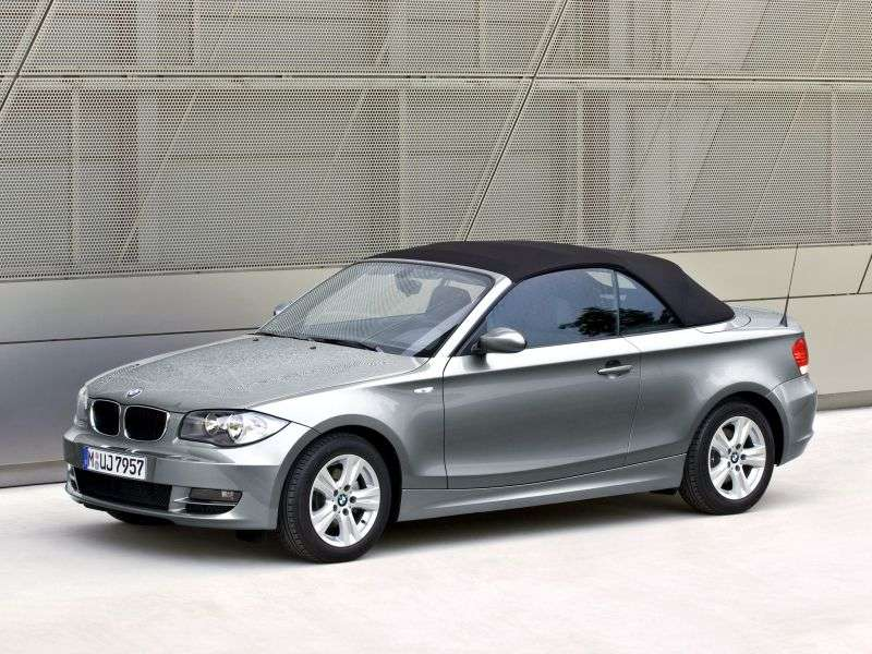 BMW 1 Series E81 / E82 / E87 / E88 [Restyling] 123d MT Convertible (2008–2009)
