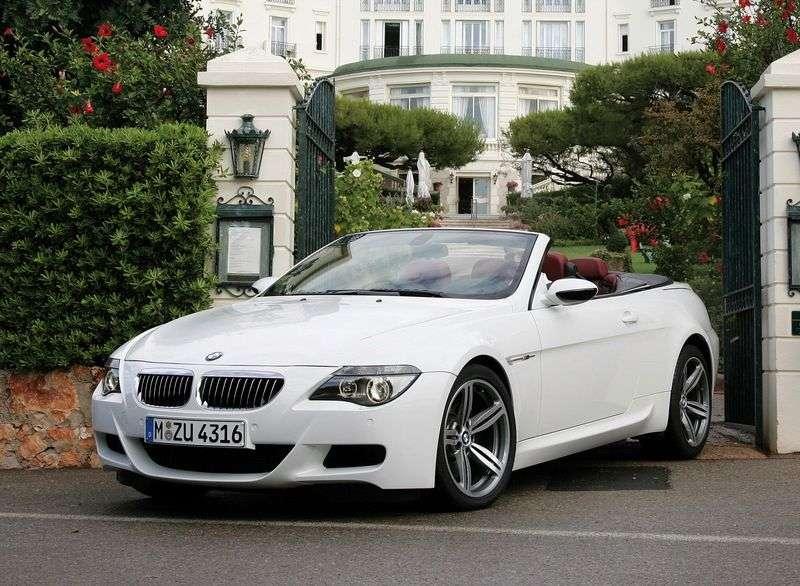 BMW serii M E63 / E64 6 seria 5.0 SMG Cabrio (2006 2010)