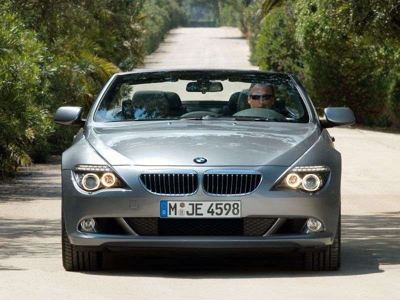 BMW 6 Series E63 / E64 [Restyling] 650i AT Convertible (2008–2010)