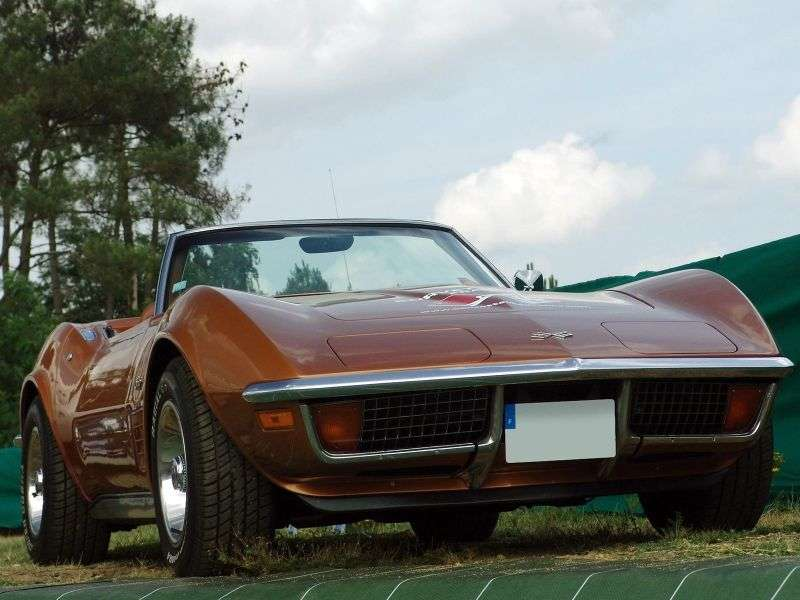 Chevrolet Corvette C3 [Restyling] Sting Ray Convertible 5.7 Turbo Hydra Matic (1971–1972)