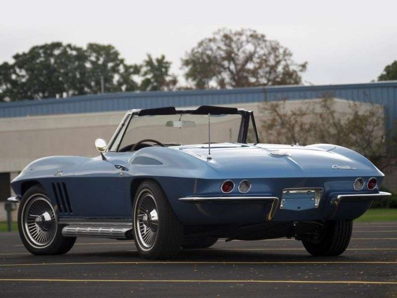 Chevrolet Corvette C2 [2nd restyling] Sting Ray roadster 5.4 3Syncro Mesh (1965–1965)