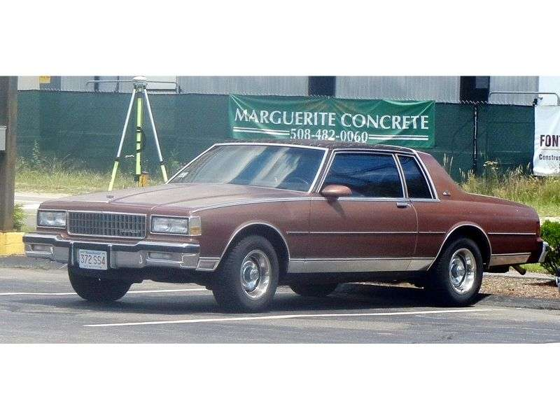 Chevrolet Caprice 3rd generation [2nd restyling] coupe 4.3 3АТ (1986–1987)