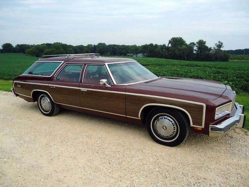 Chevrolet Caprice 2nd generation [5th restyling] Kingswood Estate 6.6 Turbo Hydra Matic 3 seat station wagon (1976–1976)