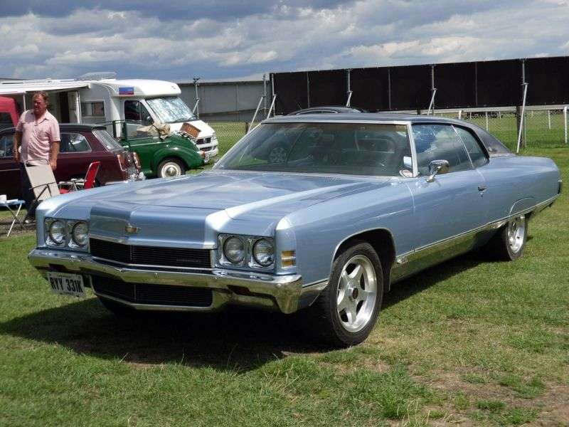 Chevrolet Caprice 2nd generation [restyling] Custom Coupe 2 bit hardtop. 6.6 Turbo Hydra Matic (1972–1972)