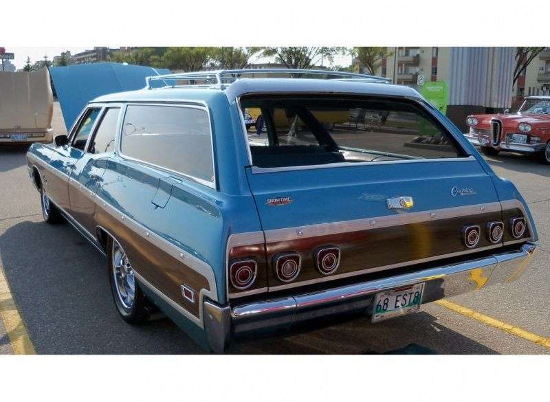 Chevrolet Caprice 1st generation [3rd restyling] Kingswood Estate Wagon 7.0 3MT Heavy Duty 2 seat (1968–1968)