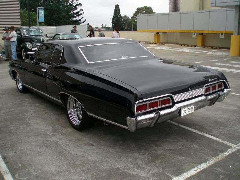 Chevrolet Caprice 1st generation [2nd restyling] Sport Coupe hardtop 2 bit. 5.4 4MT (1967–1967)