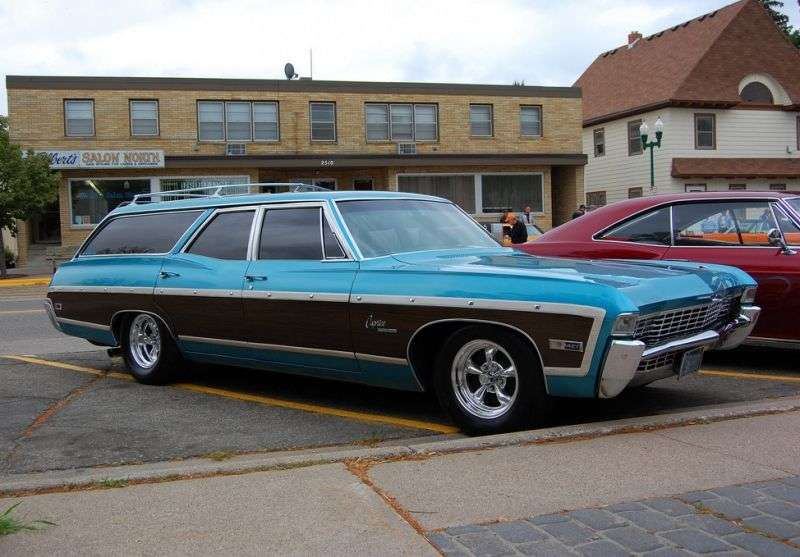 Chevrolet Caprice 1st generation [3rd restyling] Kingswood Estate Wagon 6.5 3MT Heavy Duty 2 seat (1968–1968)