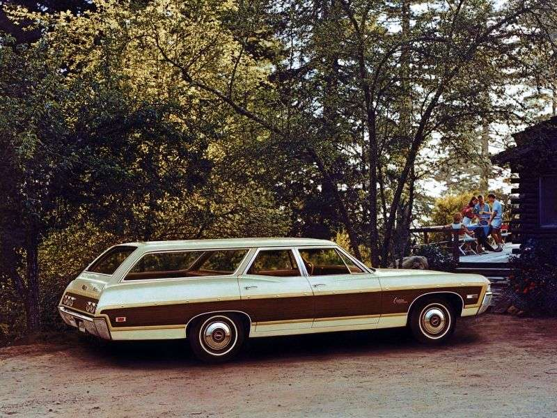 Chevrolet Caprice 1st generation [3rd restyling] Kingswood Estate Wagon 7.0 4MT 2 seat (1968–1968)
