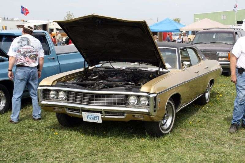 Chevrolet Caprice 1st generation [4th restyling] Sport Sedan 4 bit hardtop. 7.0 4MT (1969–1969)
