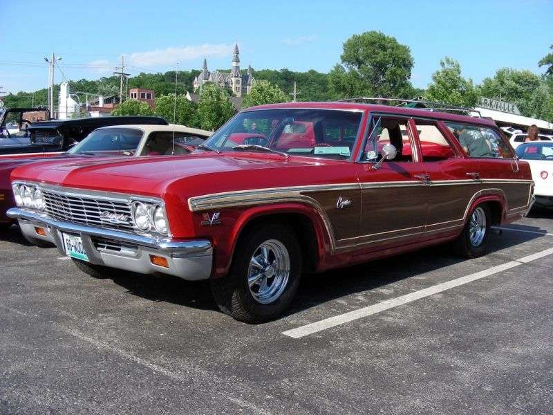 Chevrolet Caprice 1st generation [restyling] Kingswood Estate station wagon 4.6 Powerglide 2 seat (1966–1966)